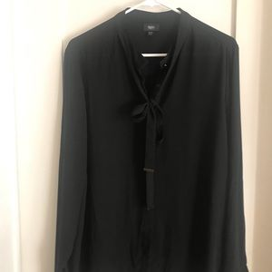 Massimo- Black sheer Blouse